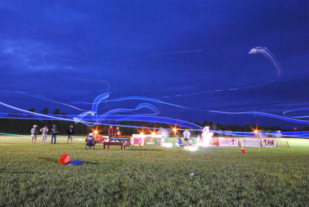 Night Flying under lights at huckin in the valley